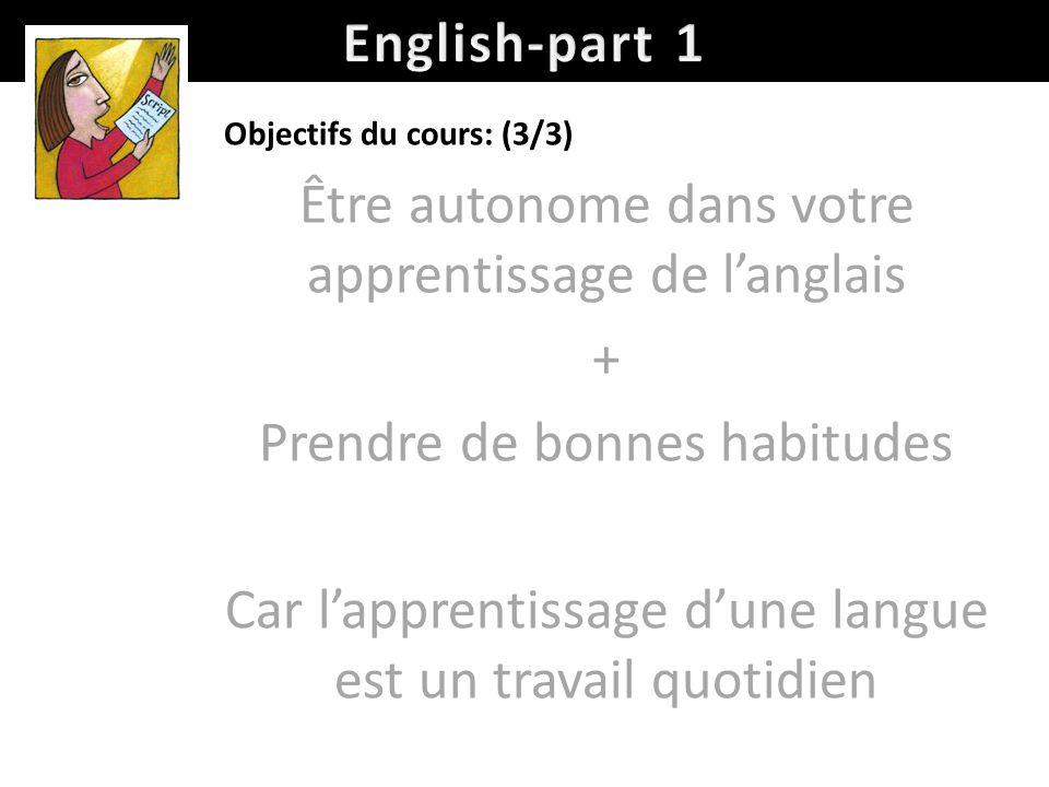 Être autonome dans votre apprentissage de l'anglais +