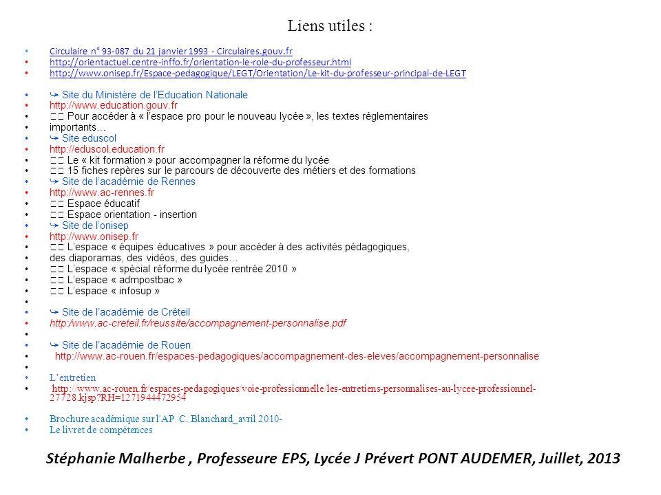 Liens utiles : Circulaire n° 93-087 du 21 janvier 1993 - Circulaires.gouv.fr.