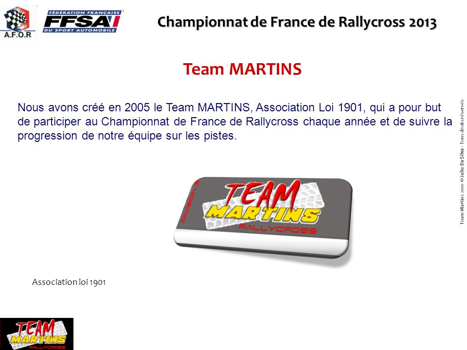 Team MARTINS Championnat de France de Rallycross 2013