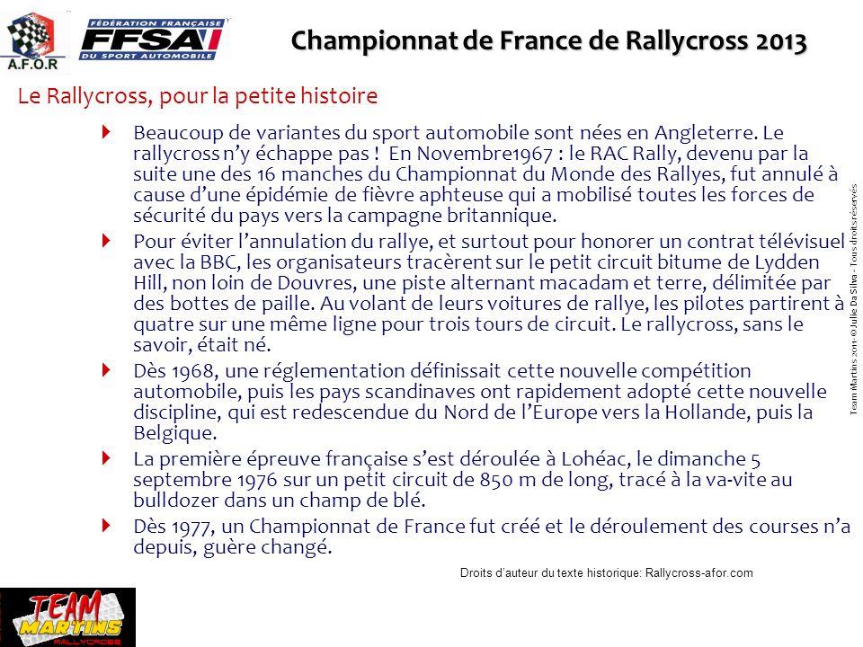 Le Rallycross, pour la petite histoire