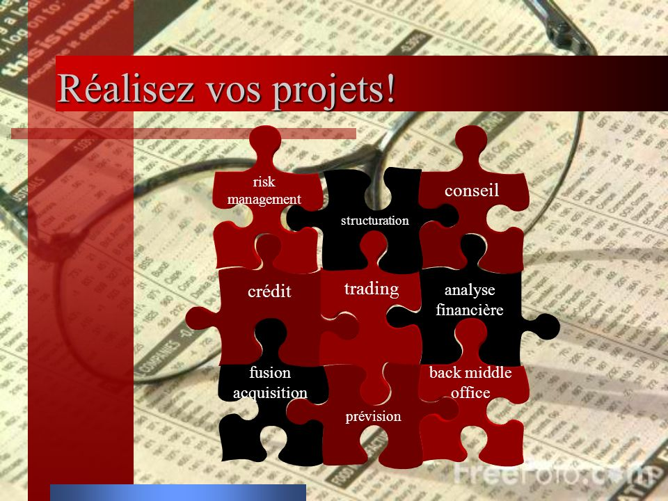 Réalisez vos projets! conseil trading crédit analyse financière