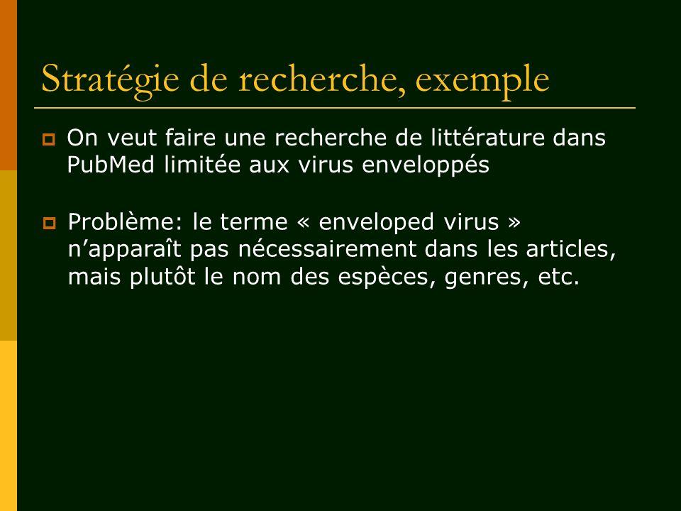 Stratégie de recherche, exemple