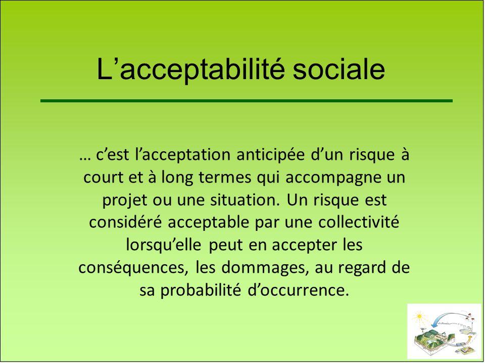 L'acceptabilité sociale