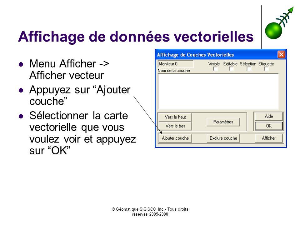 Affichage de données vectorielles
