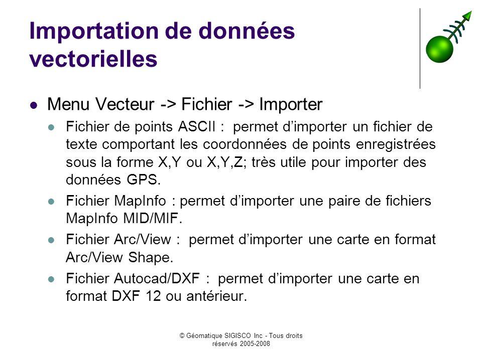 Importation de données vectorielles