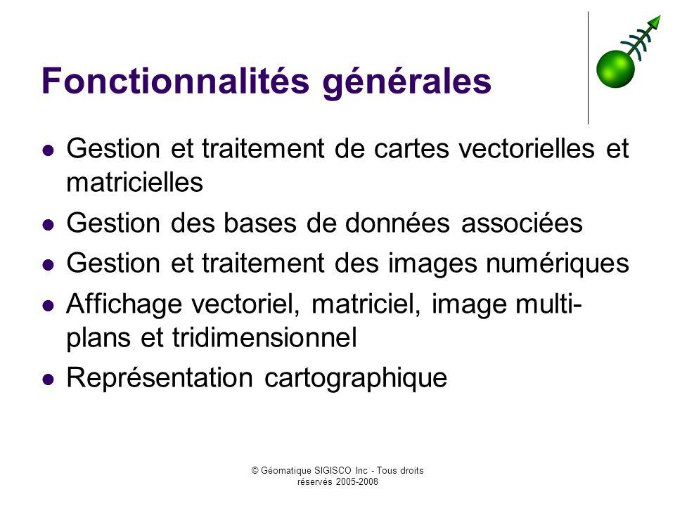 Fonctionnalités générales