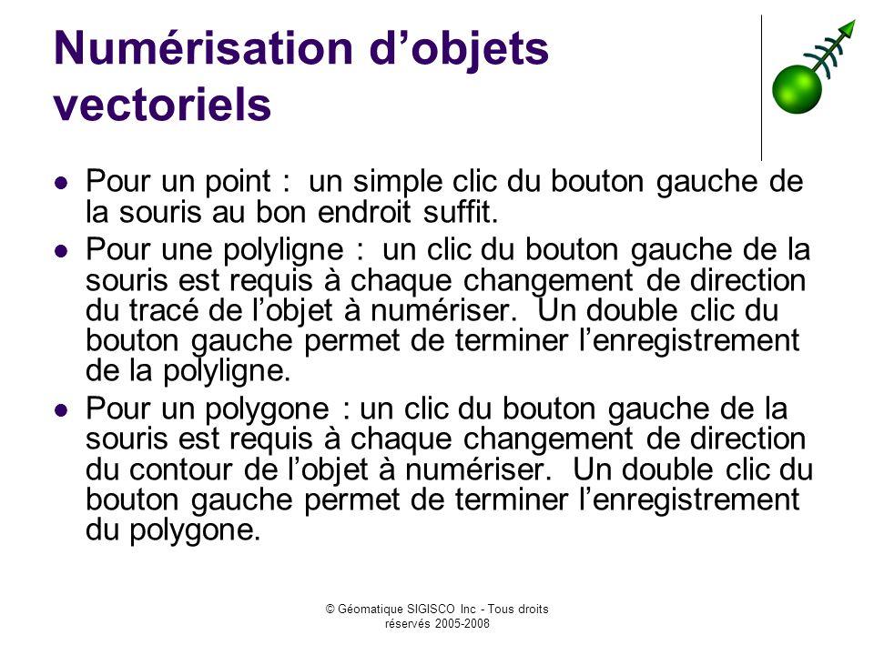 Numérisation d'objets vectoriels