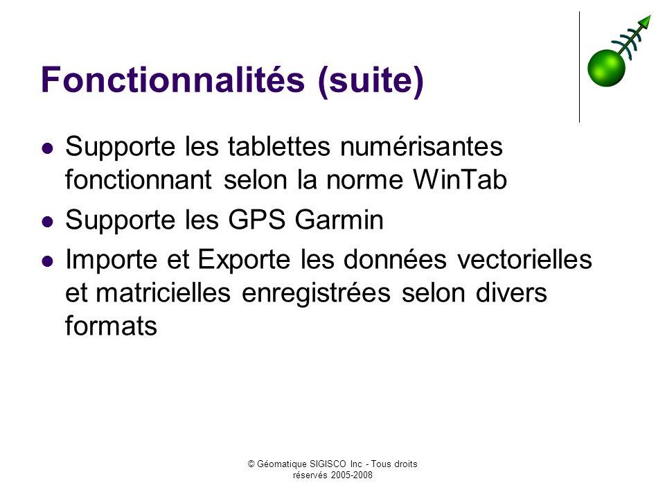 Fonctionnalités (suite)