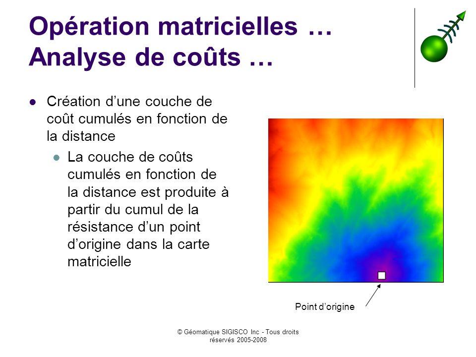 Opération matricielles … Analyse de coûts …