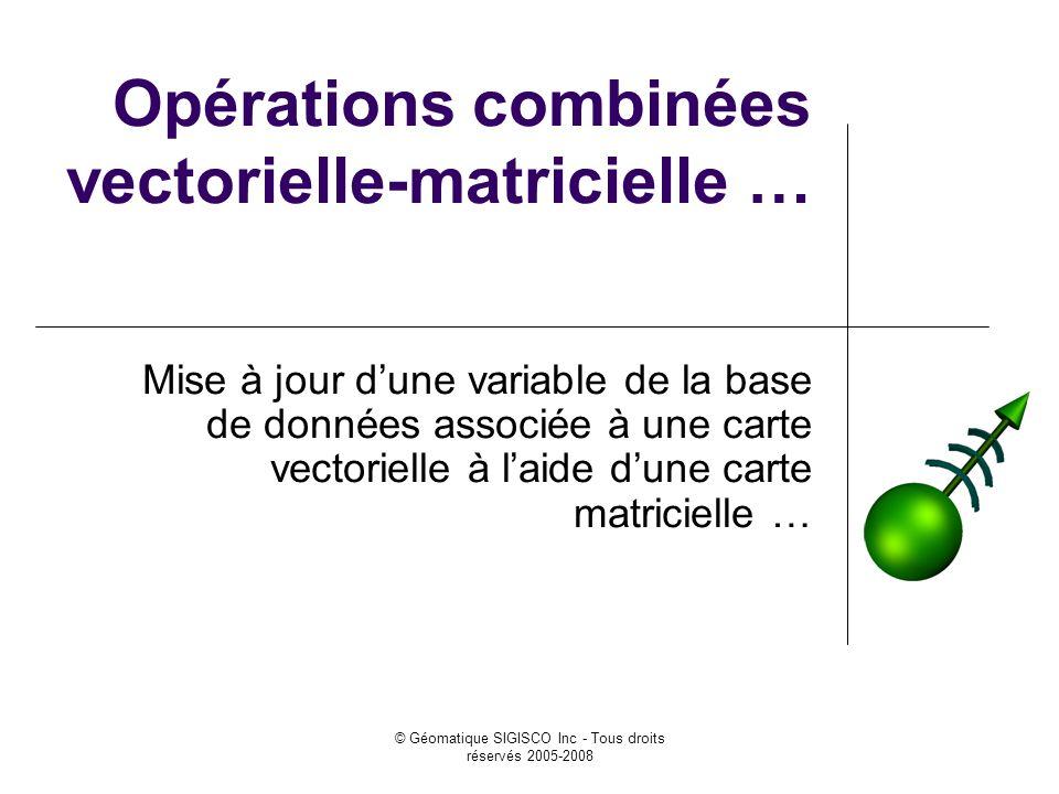 Opérations combinées vectorielle-matricielle …