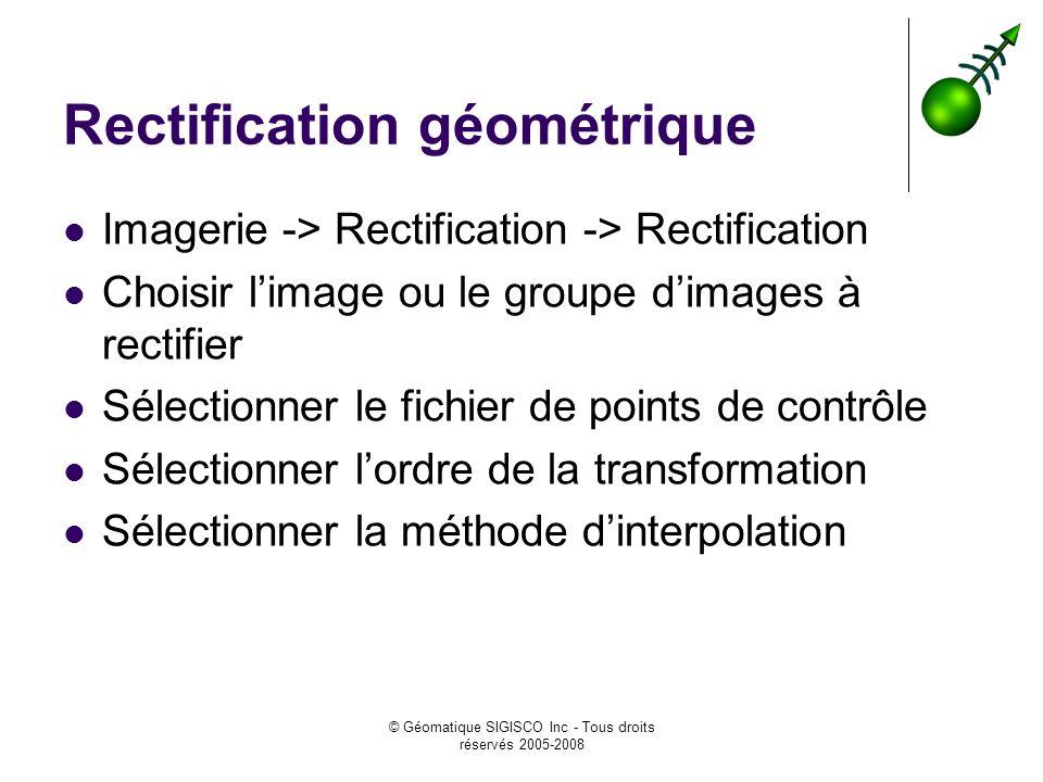Rectification géométrique