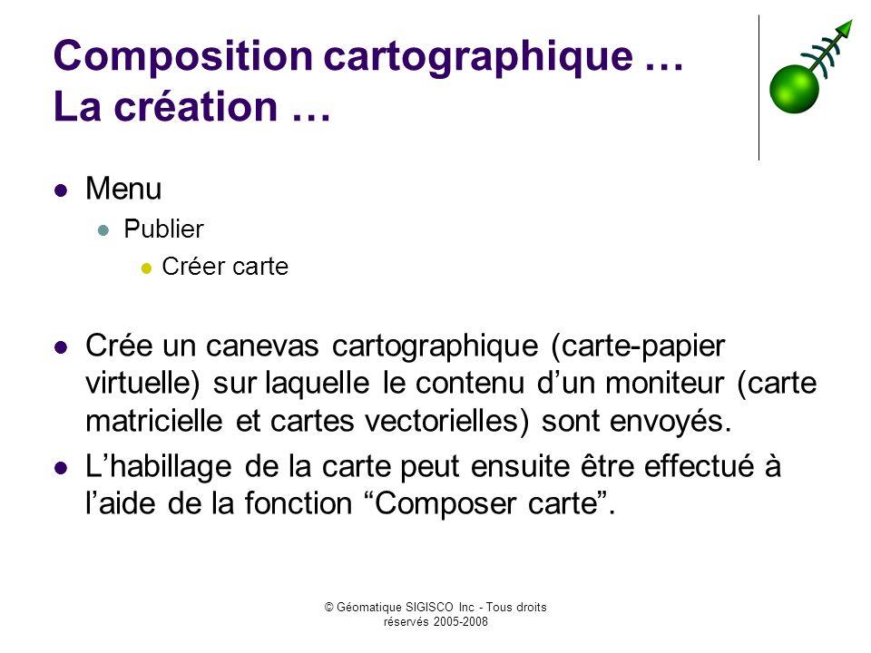 Composition cartographique … La création …