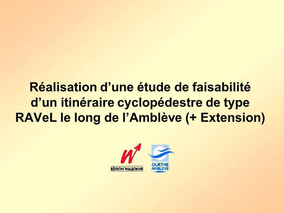 Réalisation d'une étude de faisabilité d'un itinéraire cyclopédestre de type RAVeL le long de l'Amblève (+ Extension)