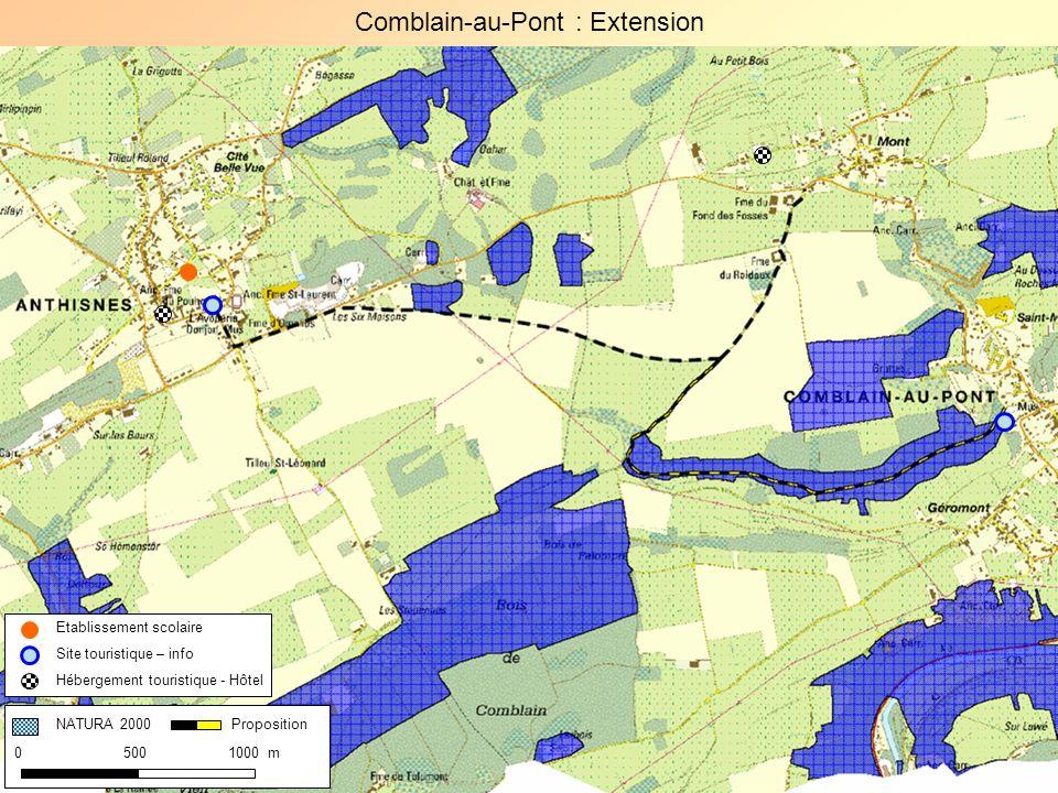 Comblain-au-Pont : Extension