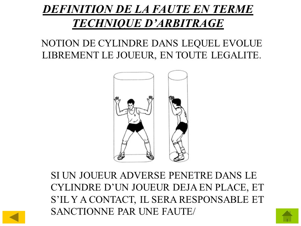 DEFINITION DE LA FAUTE EN TERME TECHNIQUE D'ARBITRAGE