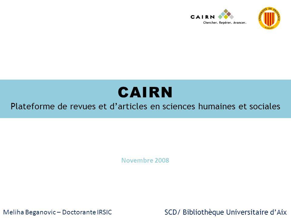 Plateforme de revues et d'articles en sciences humaines et sociales