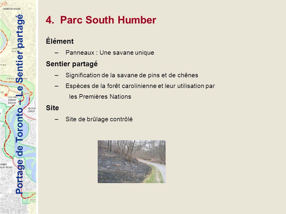 4. Parc South Humber Élément Sentier partagé Site