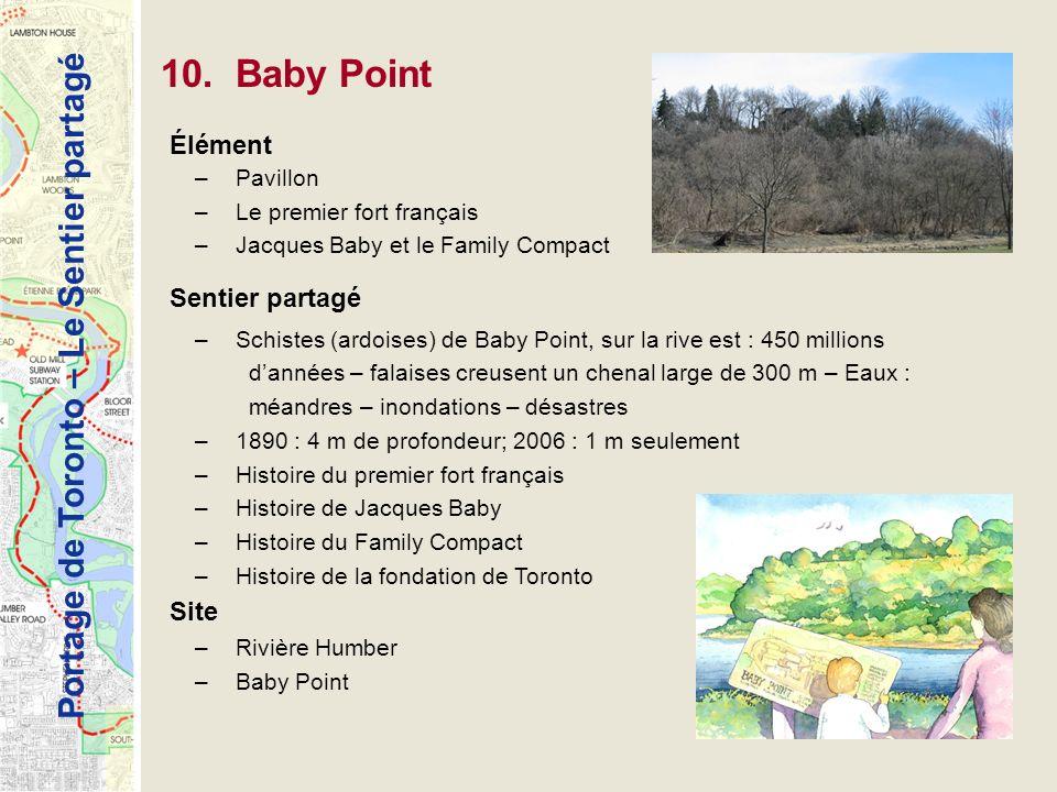 10. Baby Point Élément Sentier partagé Site Pavillon