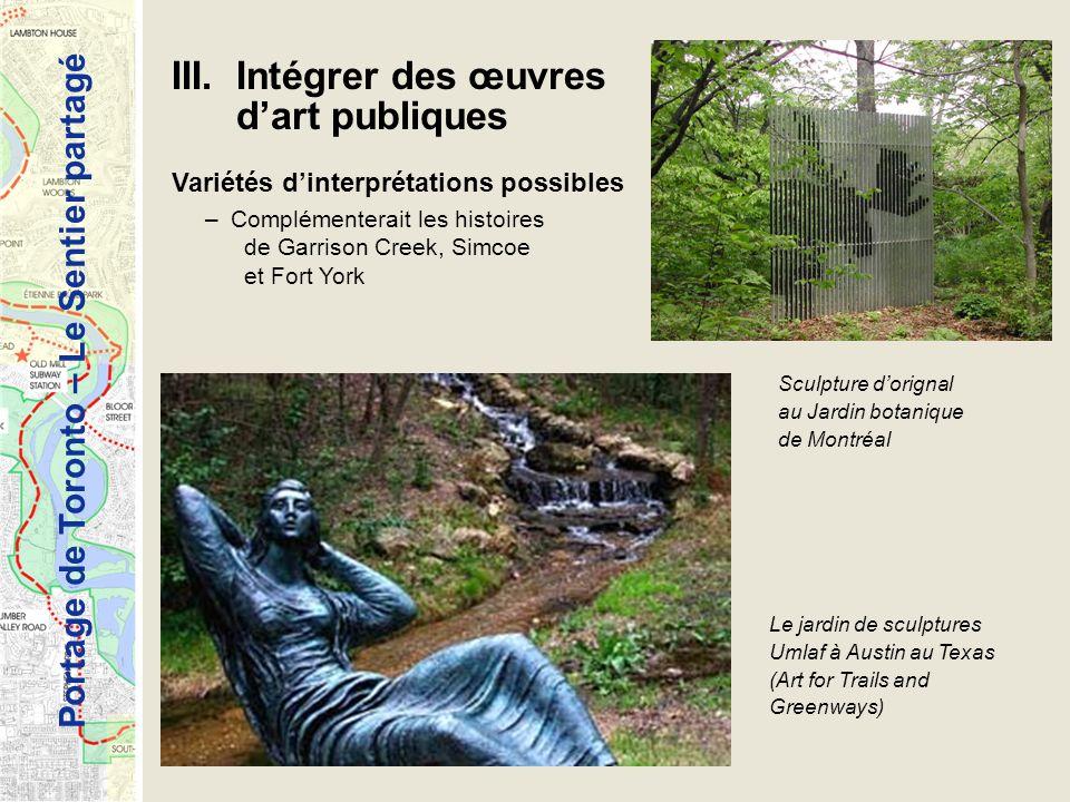 III. Intégrer des œuvres d'art publiques