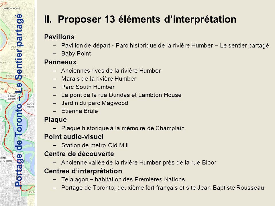 II. Proposer 13 éléments d'interprétation
