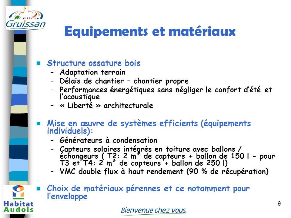 Equipements et matériaux