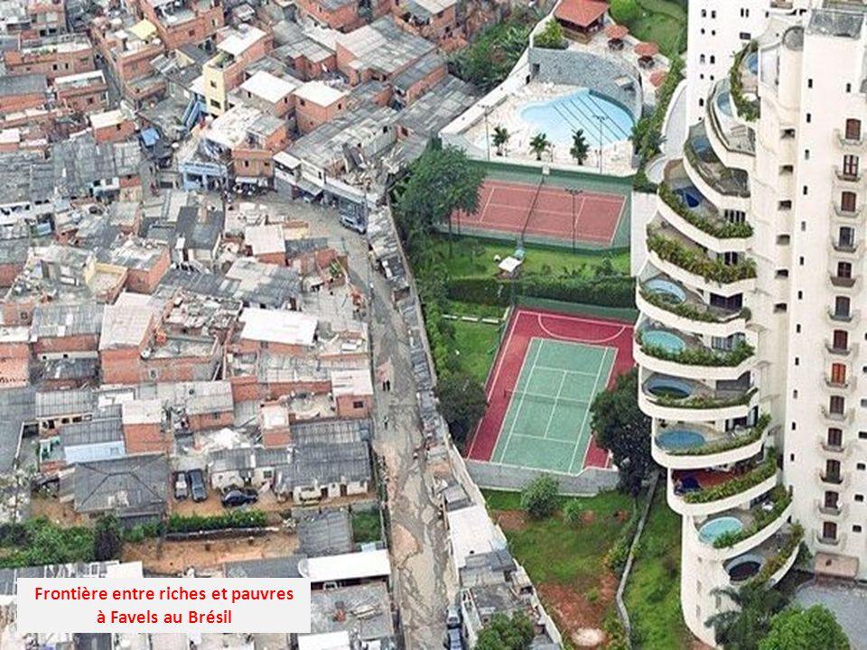 Frontière entre riches et pauvres