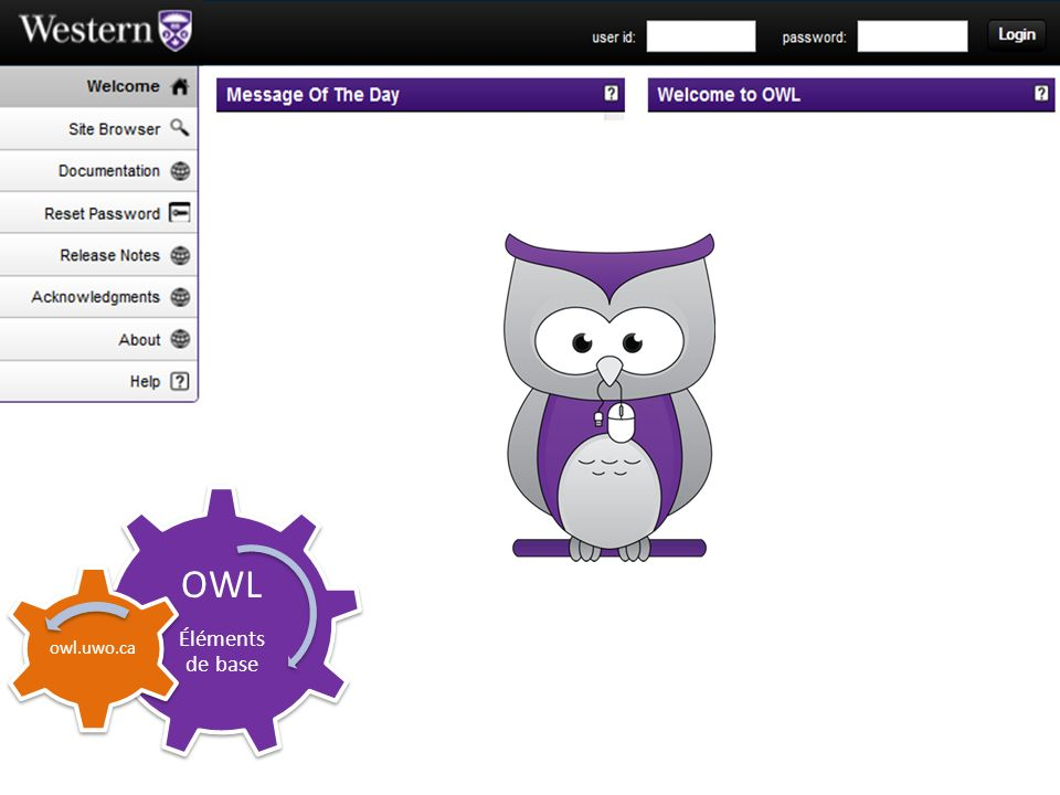 OWL Éléments de base owl.uwo.ca