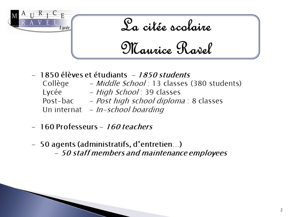 La citée scolaire Maurice Ravel