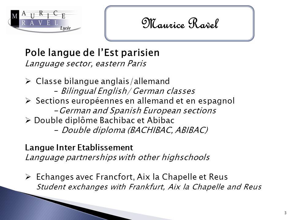 Maurice Ravel Pole langue de l'Est parisien