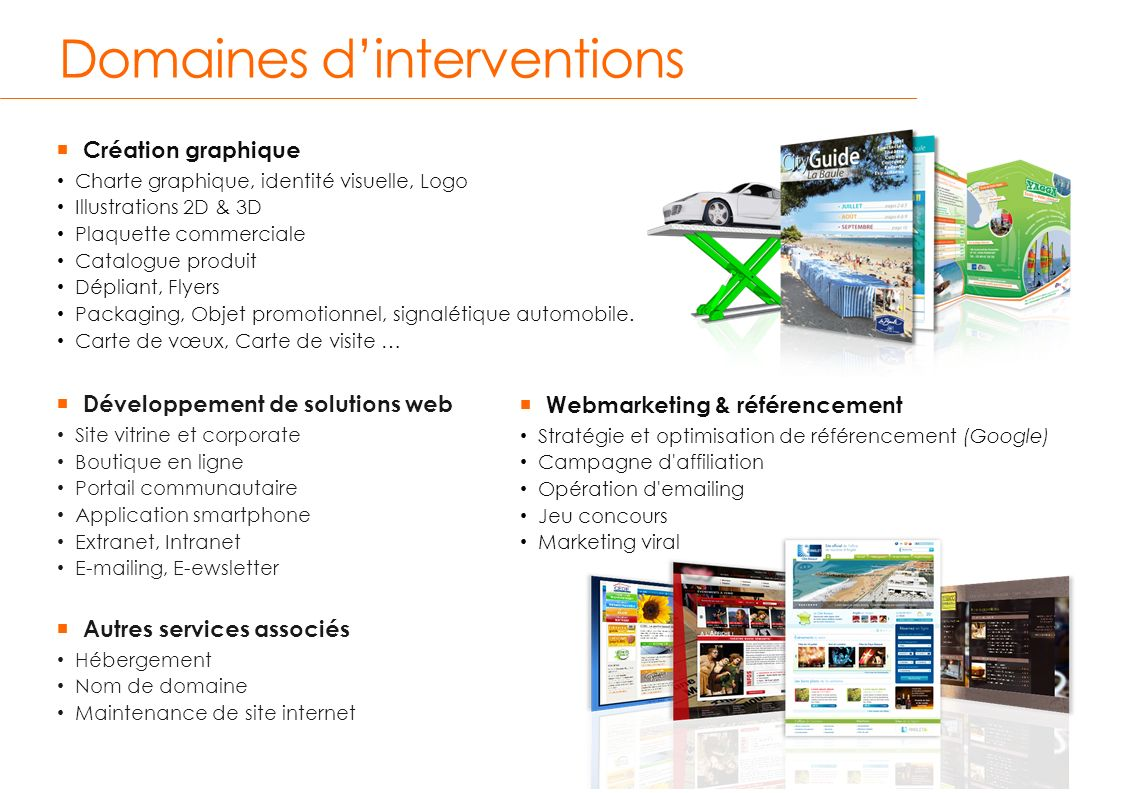 Domaines d'interventions