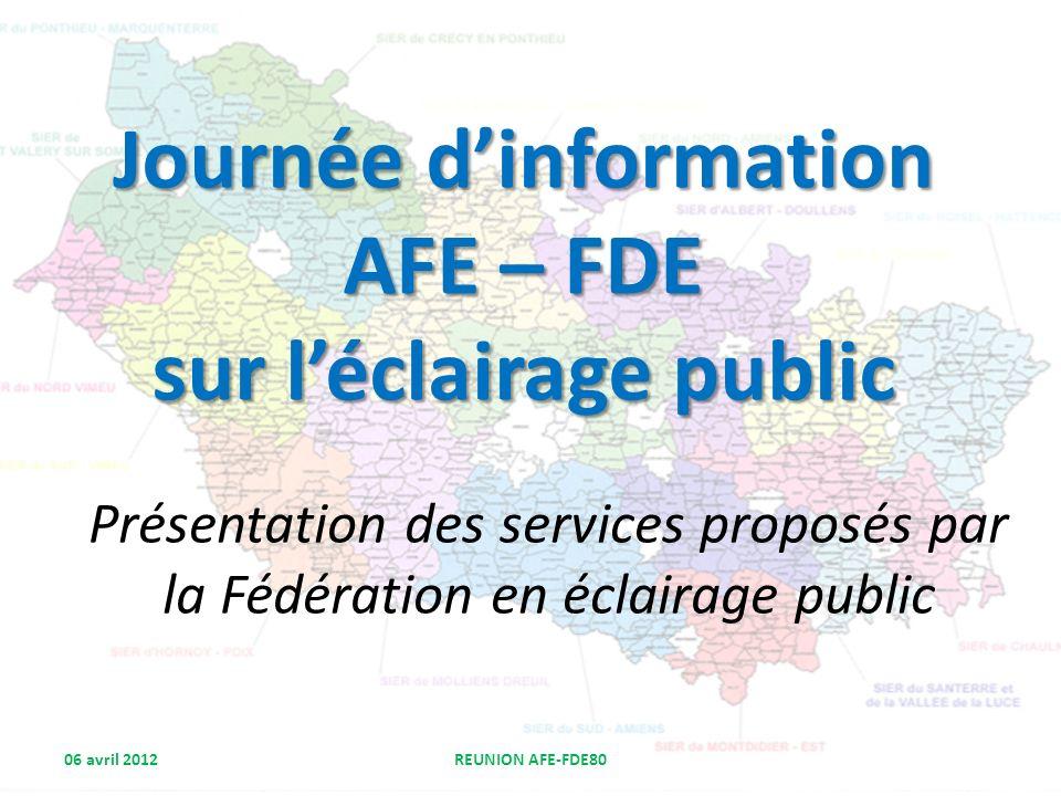 Journée d'information AFE – FDE sur l'éclairage public
