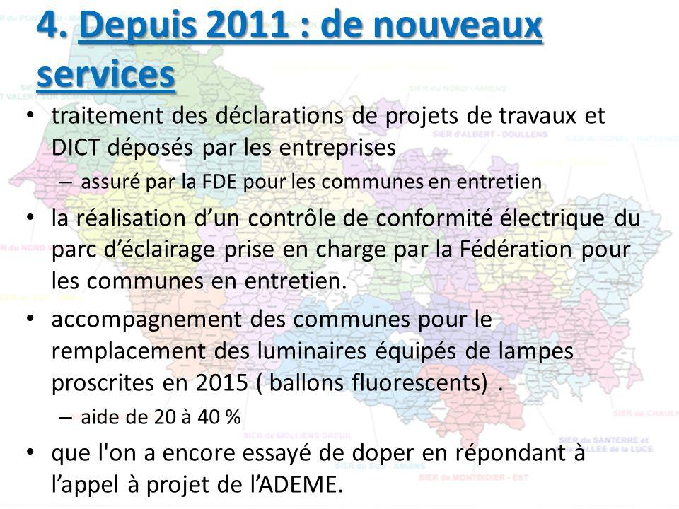 4. Depuis 2011 : de nouveaux services