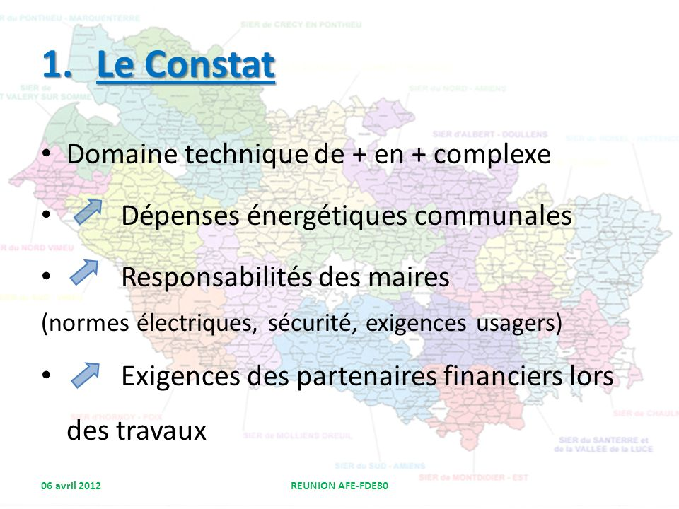 Le Constat Domaine technique de + en + complexe