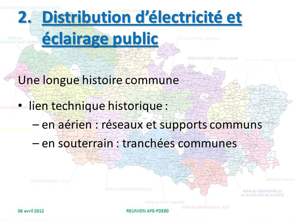 Distribution d'électricité et éclairage public