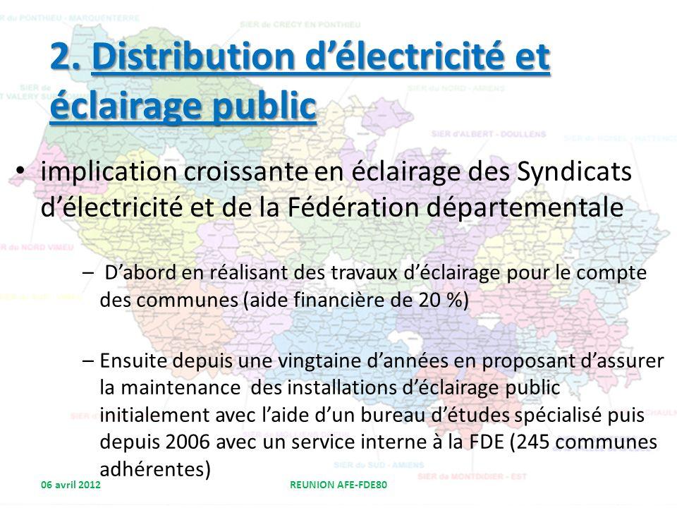 2. Distribution d'électricité et éclairage public