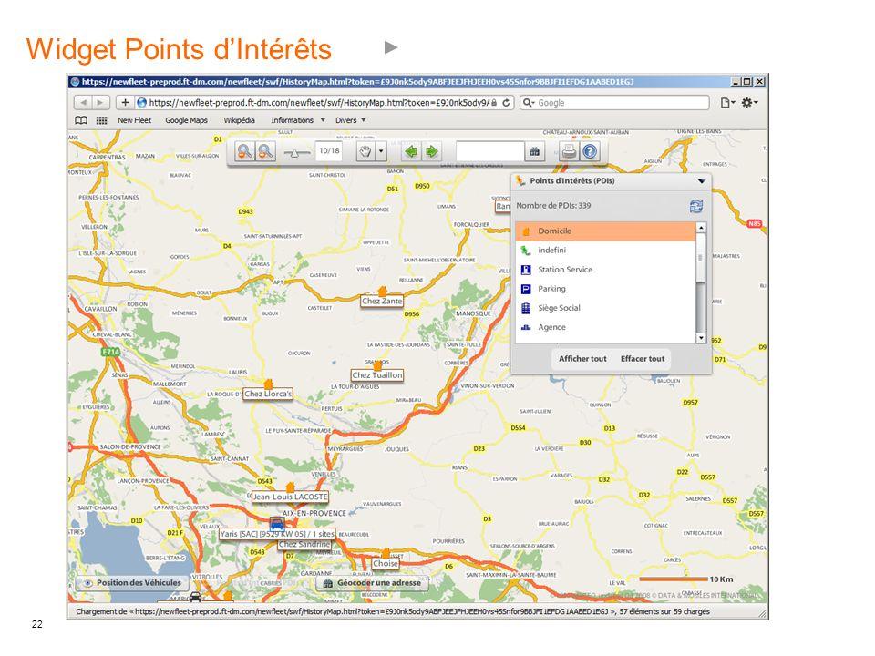 Widget Points d'Intérêts