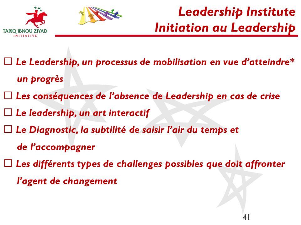 Initiation au Leadership