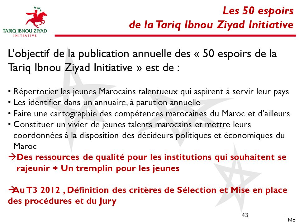 de la Tariq Ibnou Ziyad Initiative