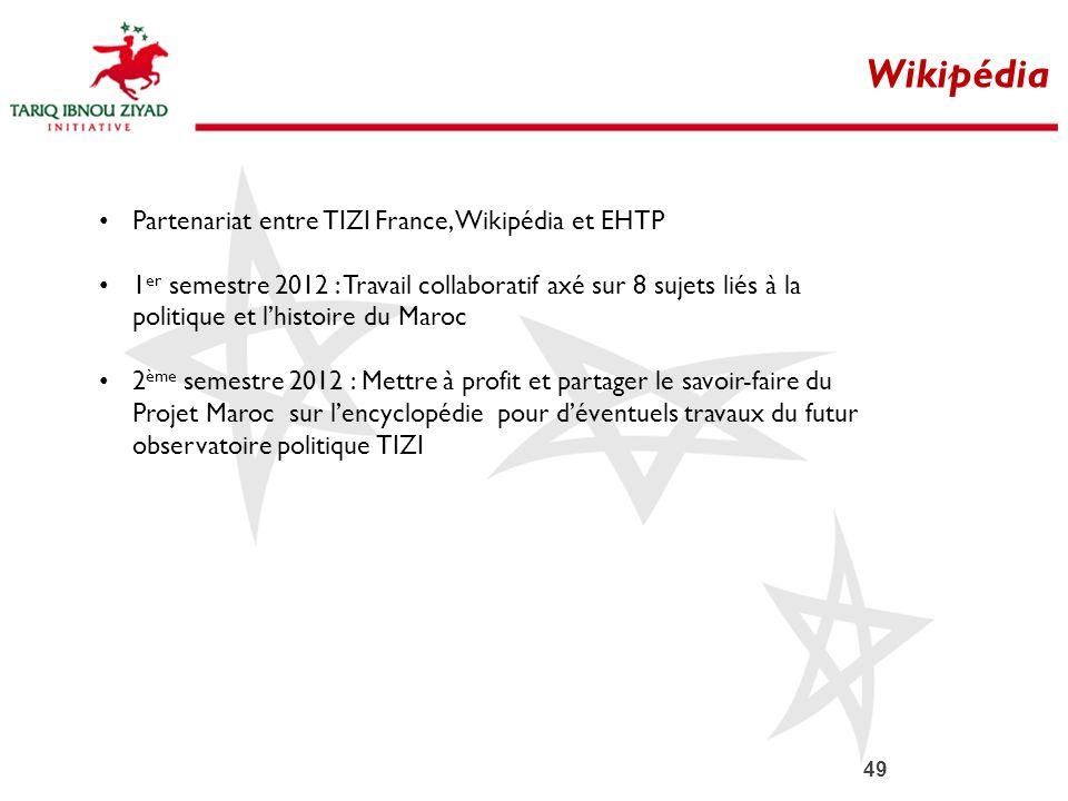 Wikipédia Partenariat entre TIZI France, Wikipédia et EHTP