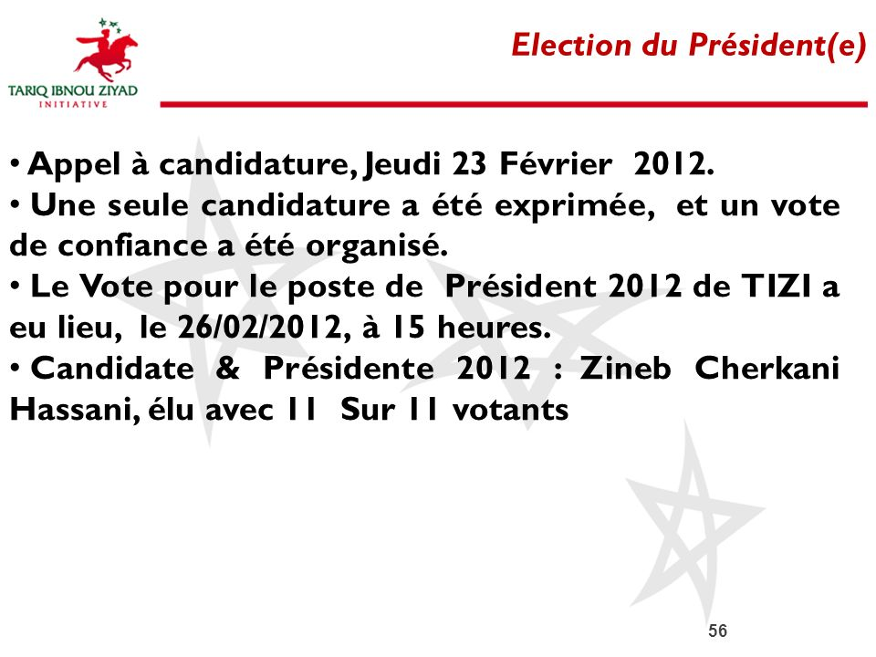 Election du Président(e)