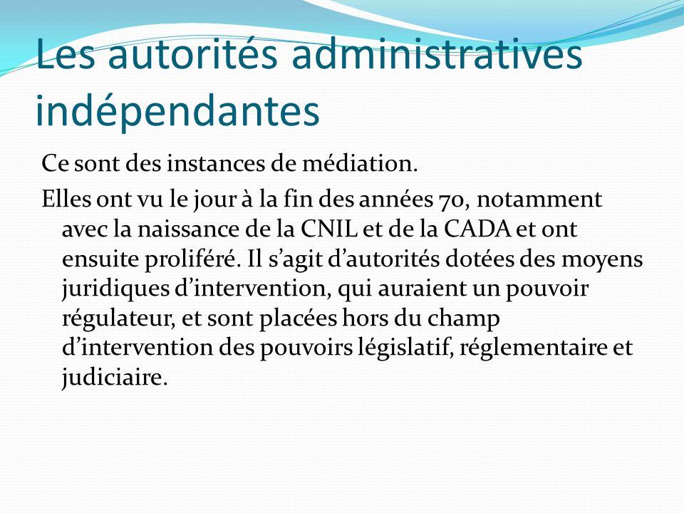 Les autorités administratives indépendantes