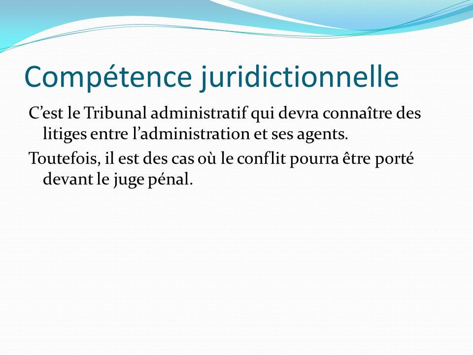 Compétence juridictionnelle