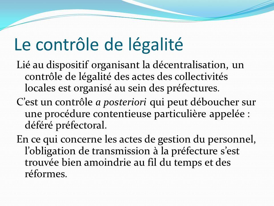Le contrôle de légalité