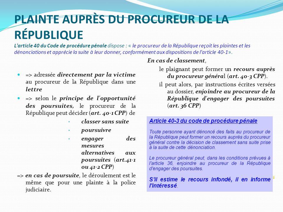 Boite a outils juridiques ppt t l charger - Porter plainte aupres du procureur de la republique ...