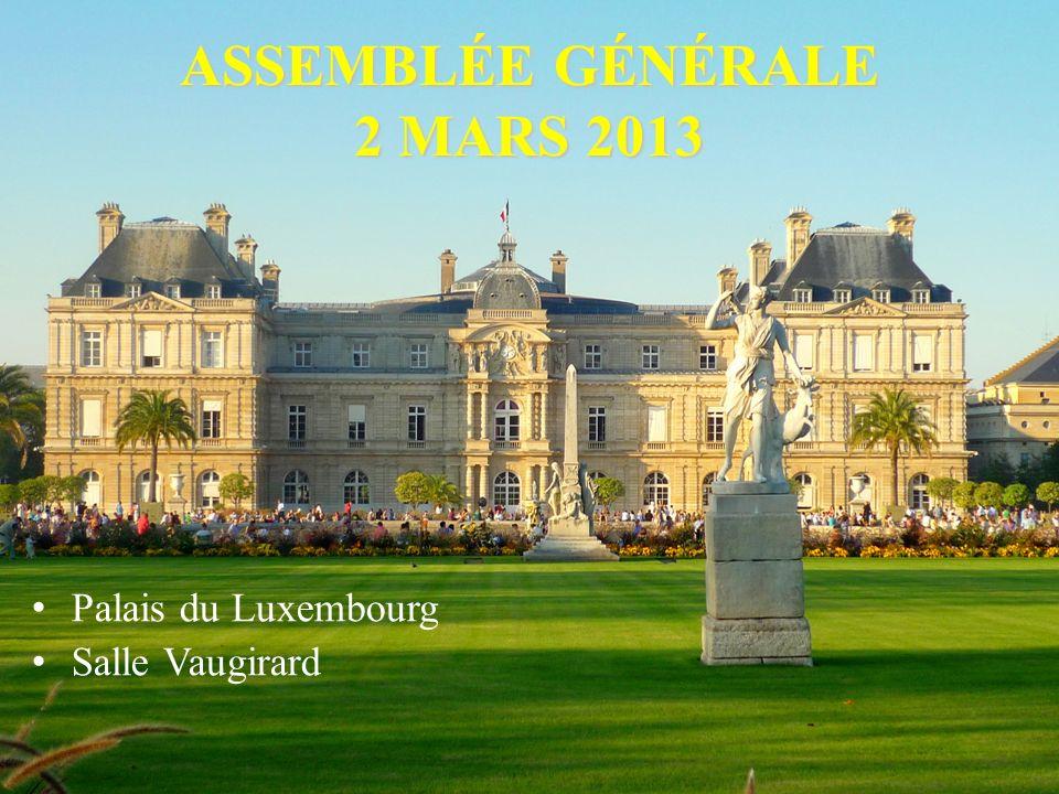 ASSEMBLÉE GÉNÉRALE 2 MARS 2013
