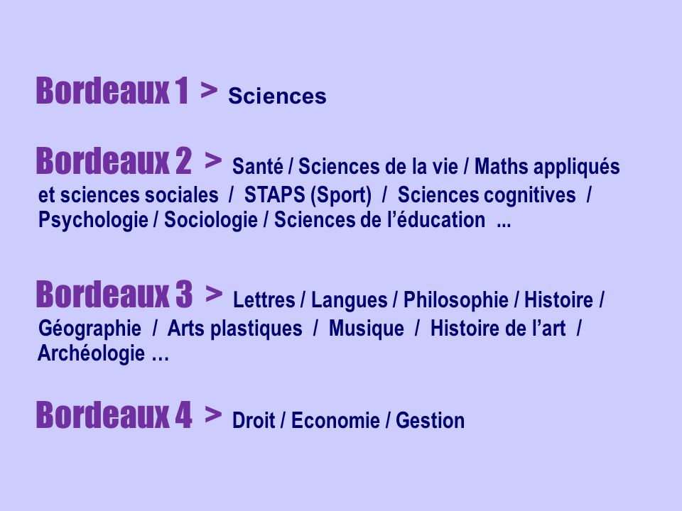 Bordeaux 1 > Sciences