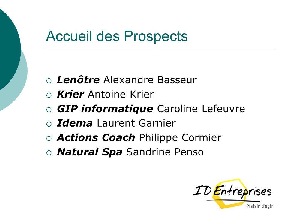 Accueil des Prospects Lenôtre Alexandre Basseur Krier Antoine Krier