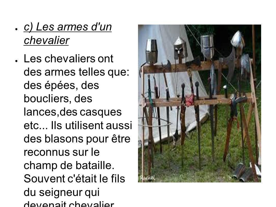 c) Les armes d un chevalier