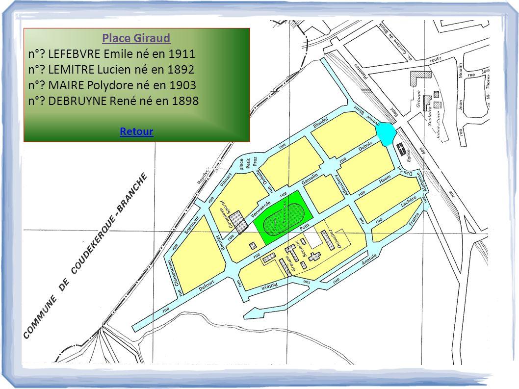 Place Giraud n° LEFEBVRE Emile né en 1911
