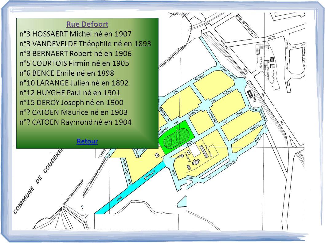 n°3 HOSSAERT Michel né en 1907 n°3 VANDEVELDE Théophile né en 1893